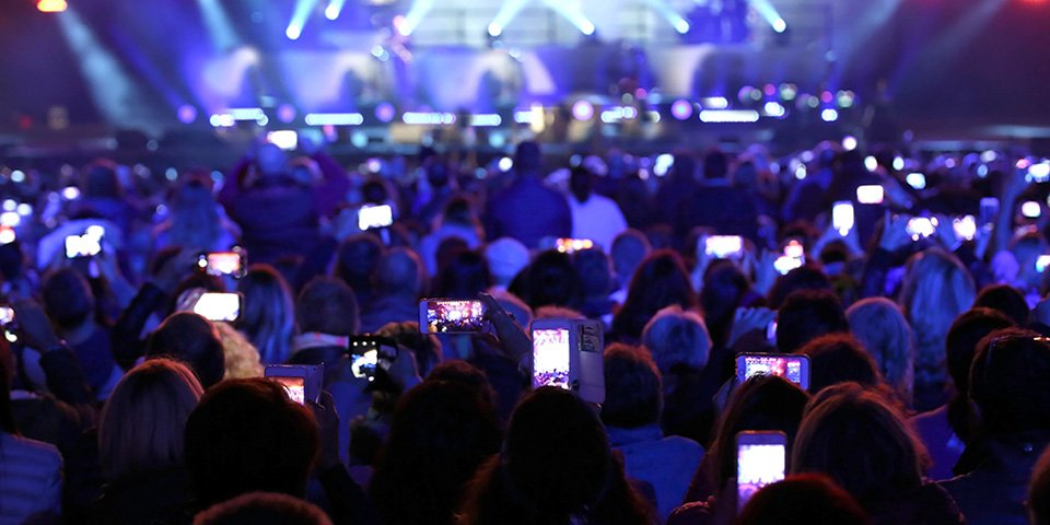 Crowd with phones