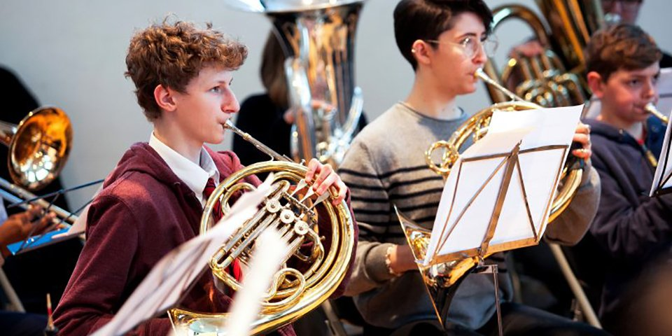 Young brass players at TBMH