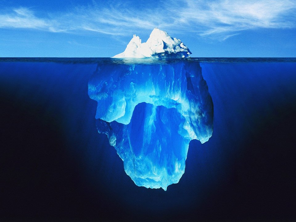 The performance is the tip of the iceberg