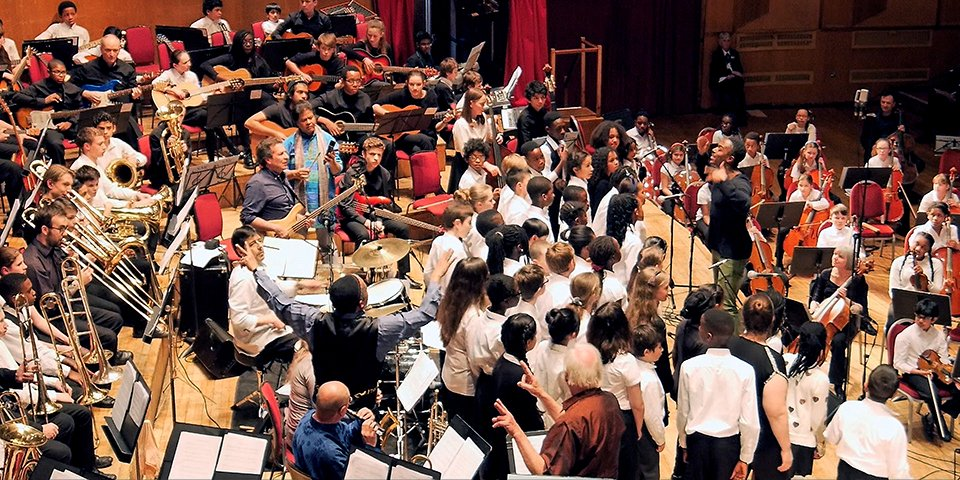 Grand Union Orchestra performing in Croydon