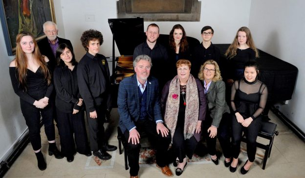 Celebrating the arrival of a new Steinway at St Mary's Music School in Edinburgh