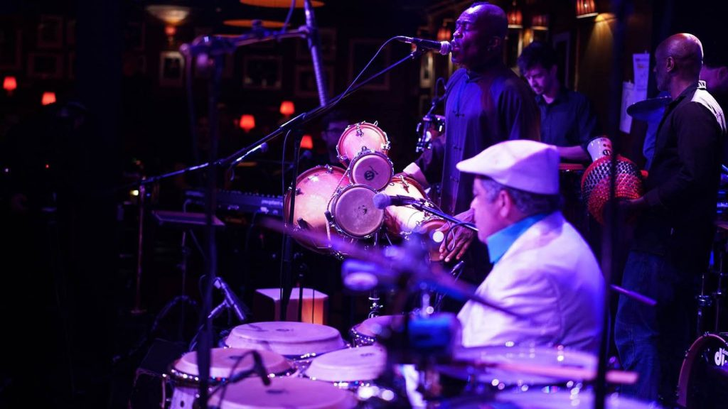 We Are Rhythm podcast hosts, Latin Percussion, celebrating their 55th anniversary at Ronnie Scott's Jazz Club in London
