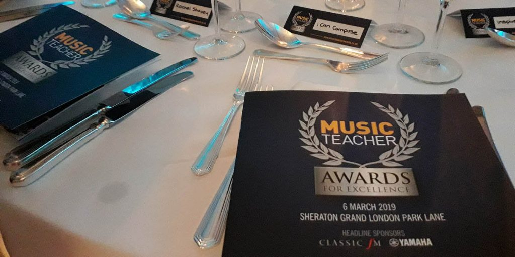 Music Teacher Awards for Excellence 2019 winner I Can Compose