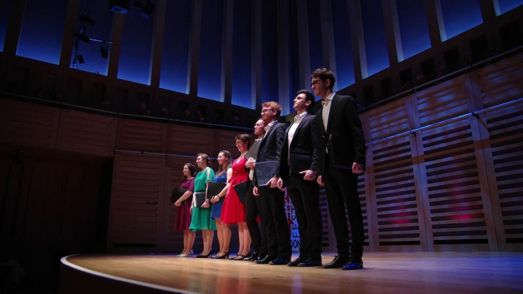 NYCGB Fellowship Programme members performing at King's Place, London © Haydn Wheeler