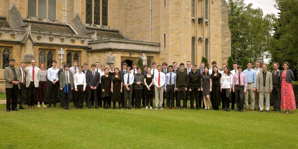 Oundle for Organists summer school graduation photo