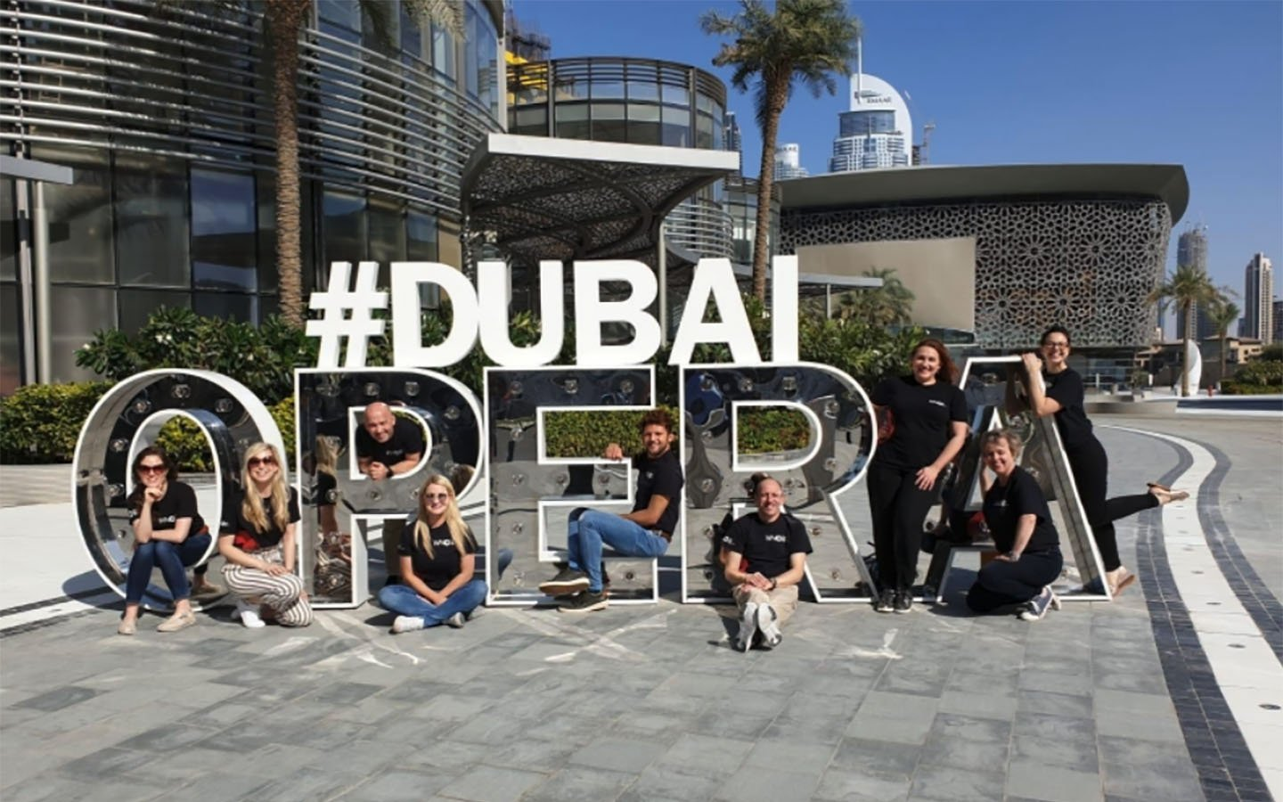 Welsh National Opera team in Dubai