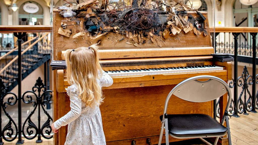 The Leeds Piano Trail – placing 12 specially decorated pianos throughout the city of Leeds – was a popular feature of last year's Competition © David Lindsay