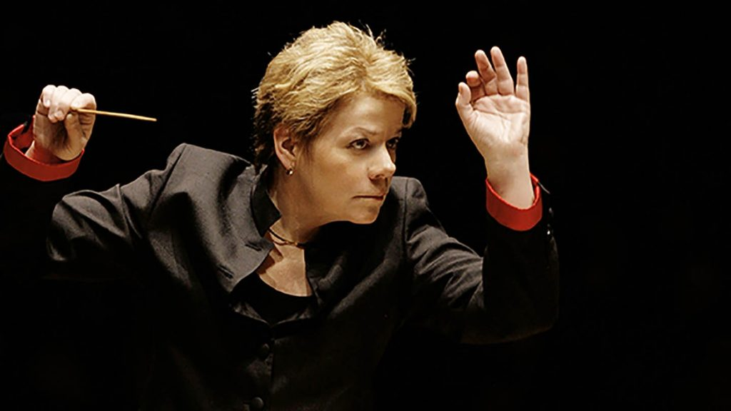 Saffron Hall's Learning and Participation programme will see Marin Alsop lead the LPO in a performance featuring Saffron Walden Choral Society © Grant Leighton