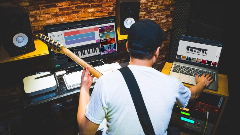 Working with BandLab in the studio
