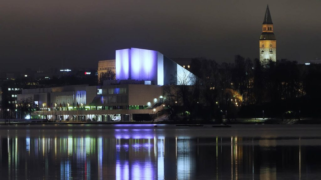 Helsinki's Finlandia Hall is one of the venues for the ISME 34th World Conference