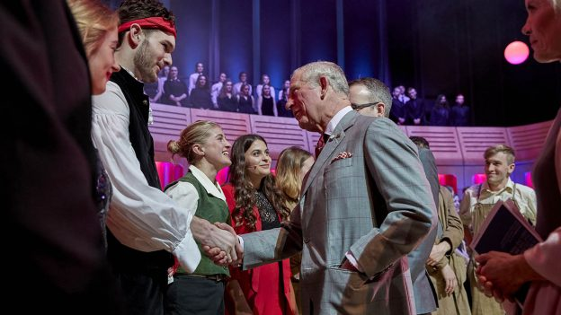 HH The Prince of Wales celebrating his 70th birthday at RWCMD © Kiran Ridley
