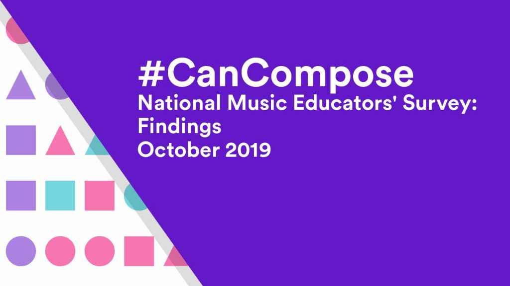 Can Compose national music educators survey findings