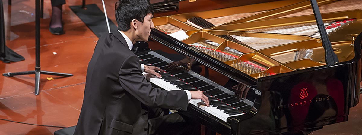 Leeds International Piano Competition - Leeds Town Hall, Leeds, England - Eric Lu performs in the final