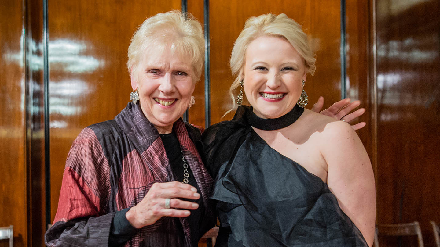 Kiandra Howarth (r) with Dame Felicity Palmer © Robert Workman