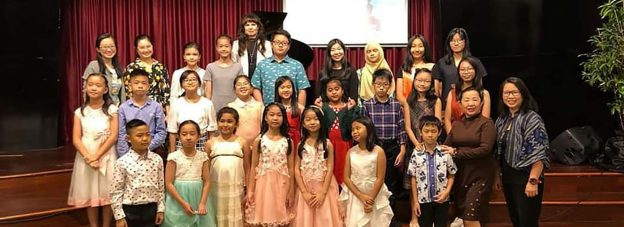 Piano pupils in SE Asia