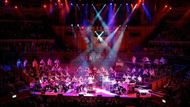 The Royal Philharmonic Orchestra performing at the Royal Albert Hall