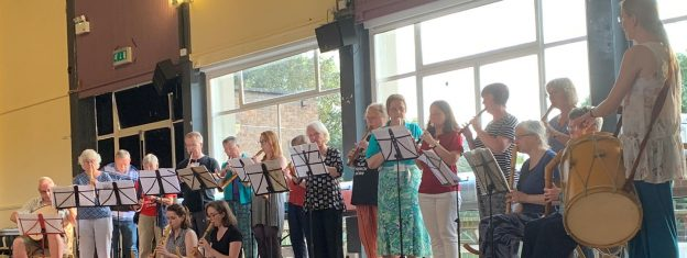 Recorder players at the NORVIS Early Music Summer School