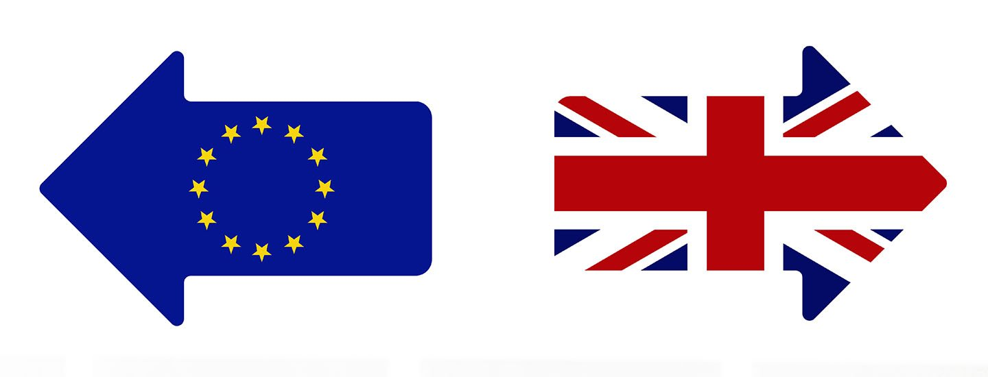 European and British flags