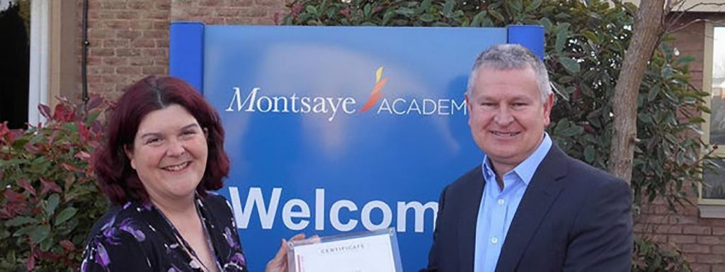 Richard Llewellyn, Education Manager at Steinberg UK and Natalie Gardner, Head of Music at Montsaye Academy