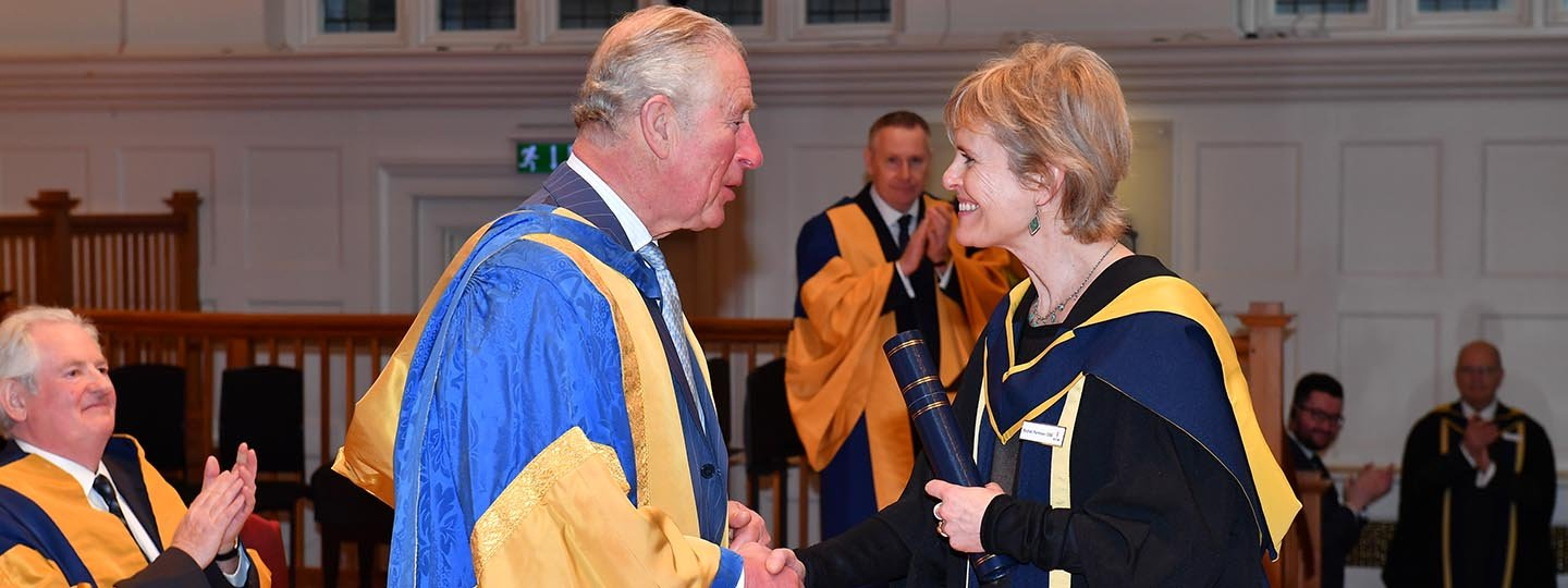 HRH The Prince of Wales with Rachel Portman