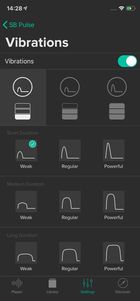 Fig. 2: The Soundbrenner app interface allows comprehensive customisation