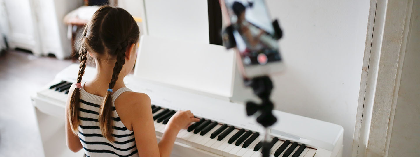 Girl at keyboard