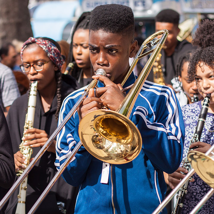 Young musicians from Youth Music-funded Kinetika Bloco © Keiran Daniels