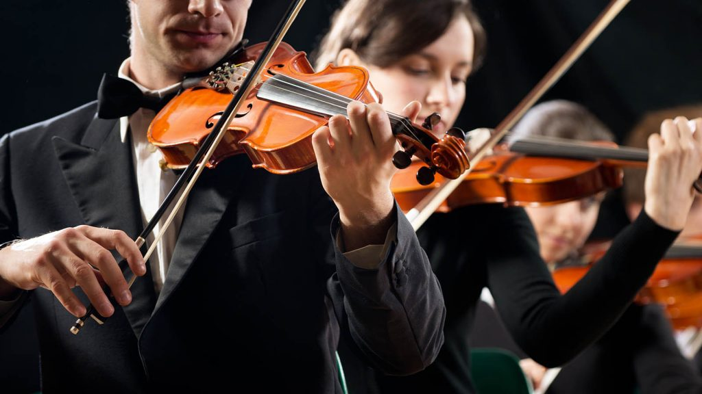 Orchestral violinists