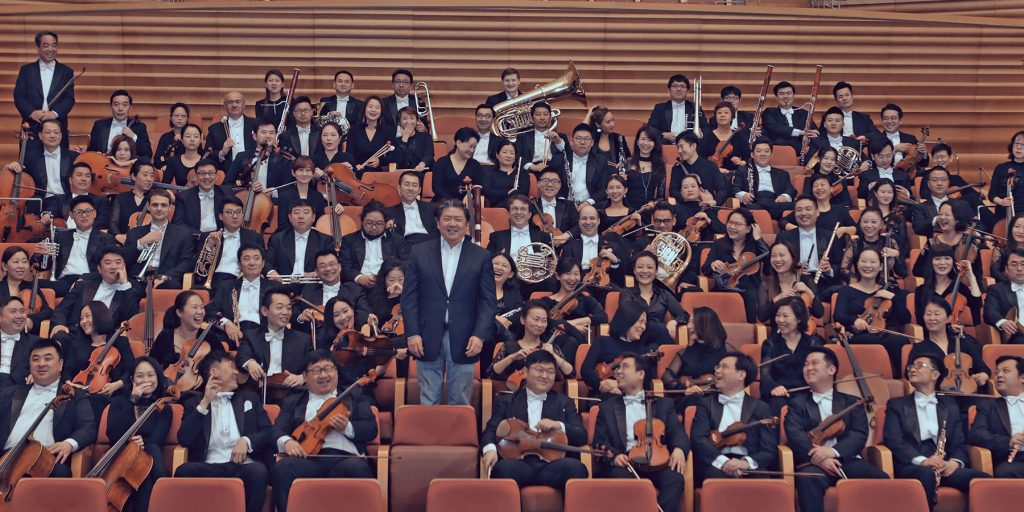 Shanghai Symphony Orchestra and Music Director Long Yu in 2019 © Shanghai Symphony Orchestra