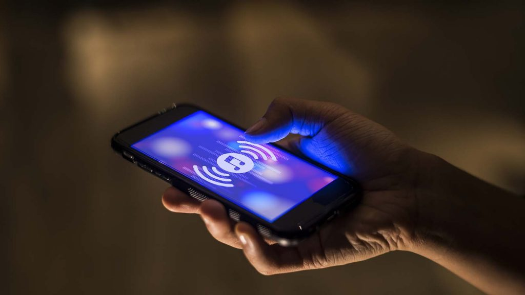 music streaming on smartphone