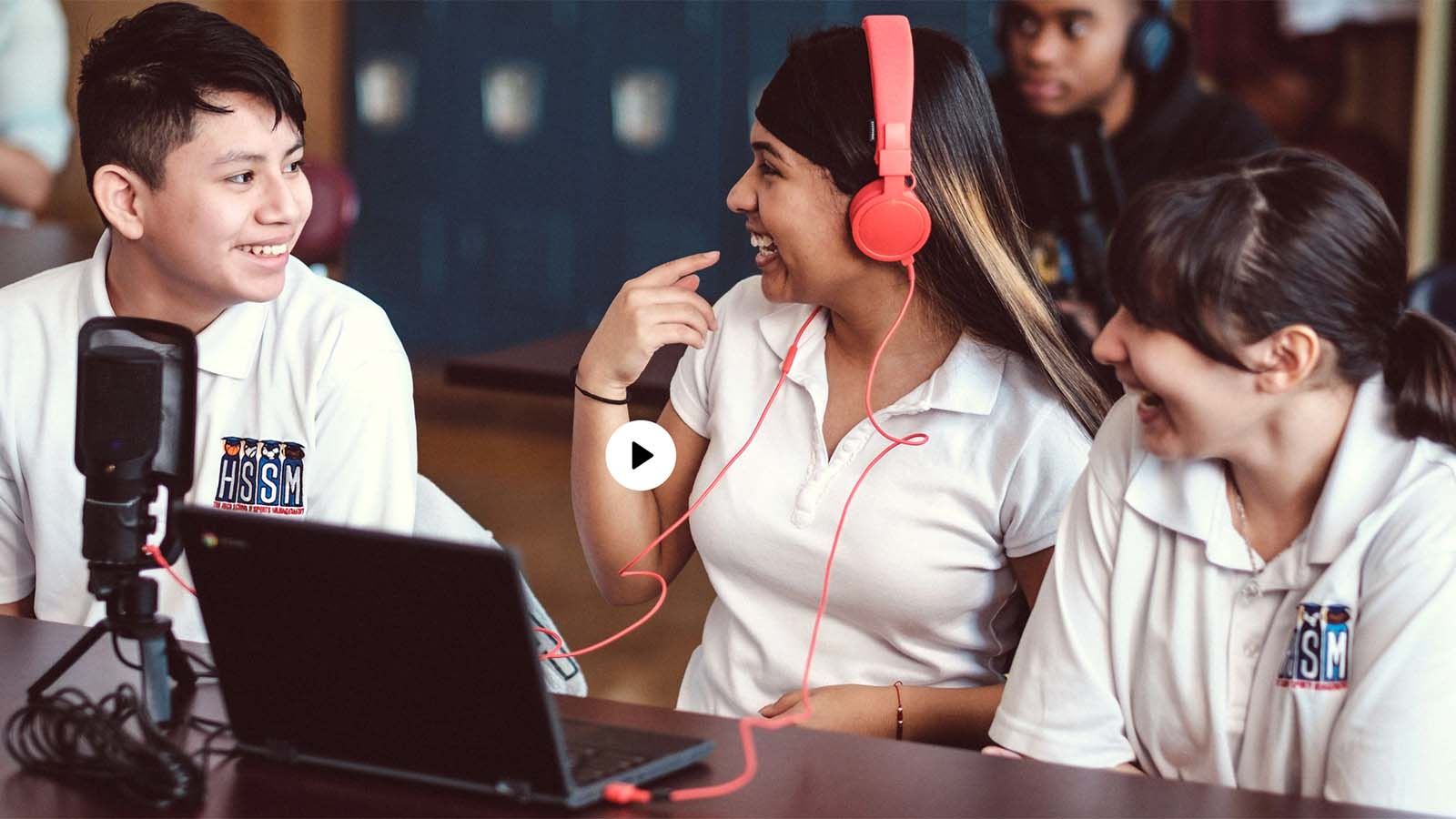 Students using Soundtrap for Education