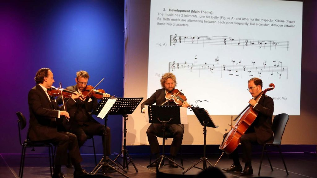 Kaiser Quartet performing the composition that won the Young Talent Award 2019