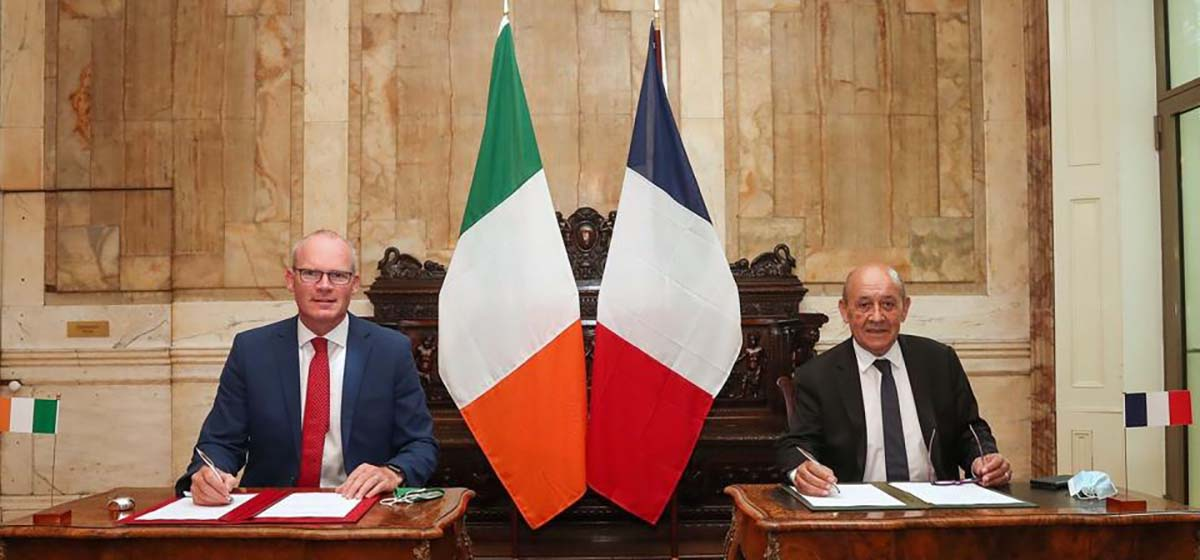 Simon Coveney, Minister for Foreign Affairs (Ireland) and Jean-Yves Le Drian, Minister for Europe and Foreign Affairs (France)